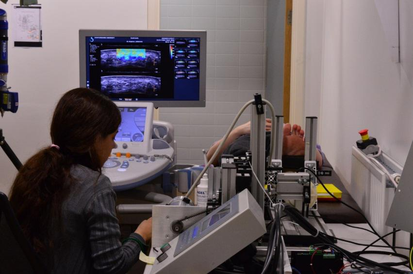 Ultrasound scanning of a foot