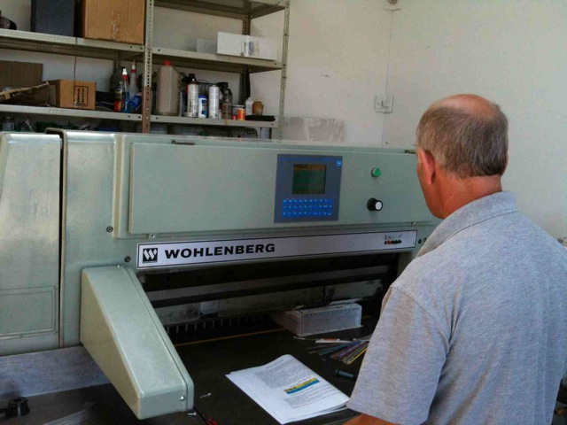 Wholemberg Procut Guillotine Installation with Operator